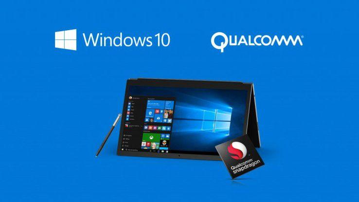 Microsoft tut sich mit Qualcomm zusammen, um künftig auch die Desktop-Apps von Windows 10 auf Geräten mit Prozessor nach ARM-Architektur lauffähig zu machen.