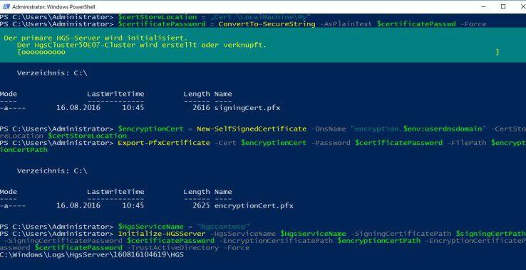 Virtuelle Server lassen sich mit Windows Server 2016 besser absichern.