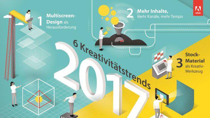 Die Kreativitätstrends für 2017 bringen neue Herausforderungen für Kreative. Adobe hat dazu auch gleich die passenden Softwareprodukte präsentiert.
