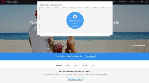 """Adobe Stock ermöglicht mithilfe von Machine Learning das Suchen von ähnlichen Stock-Bildern zu einem Ausgangsbild. Statt """"Kaffee"""" einzutippen können Benutzer zum Beispiel ihr Lieblingsbild von Instagram ins Suchfeld ziehen."""