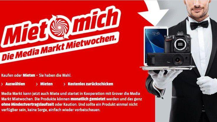 """Unter dem Motto """"Miet mich!"""" startet Media Markt zusammen mit Grover ein Mietprogramm."""