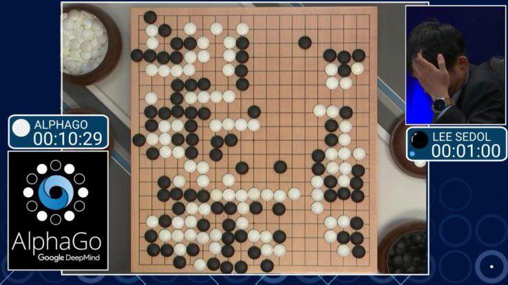 Maschine schlägt Mensch: 2016 besiegte Googles Machine Learning System AlphaGo den Weltmeister im Spiel Go.