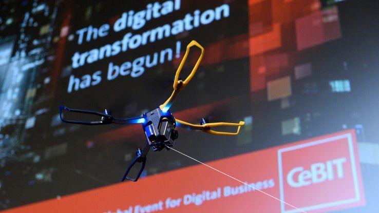 Das Fluggerät von Fotokite lässt sich einfach und sicher steuern wie ein Drachen.