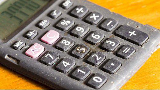 Ein typischer Taschenrechner im Büro.