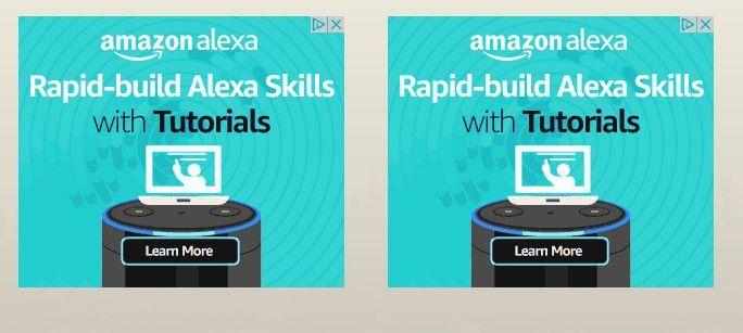 Amazon fordert die Anwender mit Popups auf, sich an der Skill-Programmierung zu beteiligen.