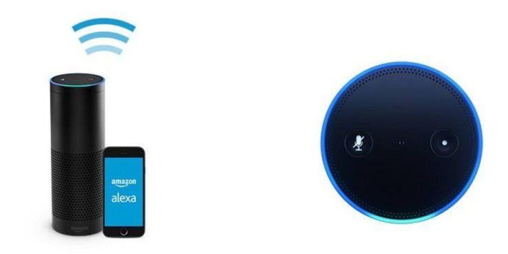 Amazon Echo und die dazu gehörige App.