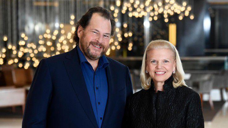 Bei Salesforce dreht sich derzeit viel um das Thema künstliche Intelliigenz. Kurz vor der CeBIT hat Salesforce-CEO Marc Benioff eine Kooperation mit IBM-Chefin Virginia Rometty vereinbart. Es geht darum, die KI-Techniken beider Unternehmen, Einstein (Salesforce) und Watson (IBM), zu verbinden.
