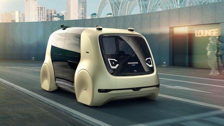 Volkswagens Self-Driving-Car Sedric: Autonome Fahrzeuge könnten künftig auch von der enormen Rechenleistung von Quantencomputern profitieren.