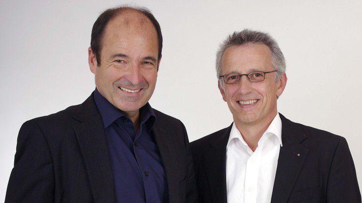 Die beiden CAS-Gründer und Vorstände Martin Hubschneider (links) und Ludwig Neer gründeten 2016 auch die SmartWe World AG, Betreiberin der gleichnamigen Softwareplattform für KMUs.