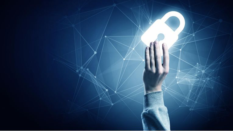 IT Security Padlock Schloss Sicherheit 16zu9