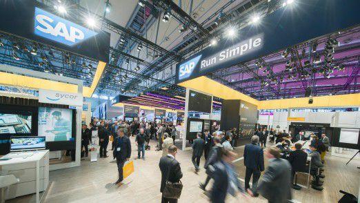 SAP-Stand auf der CeBIT 2017 mit dem bisherigen Konzept.
