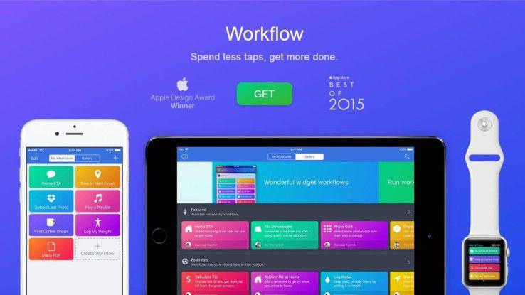 Apple hat DeskConnect, die Company hinter der App Workflow, gekauft.
