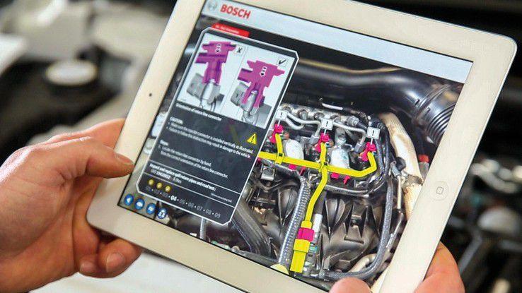 AR-Anwendungen sollen den Arbeitsablauf in Werkstätten beschleunigen.