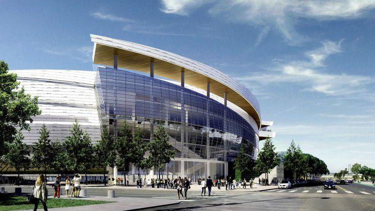 Noch ist die neue Hightech-Arena der Golden State Warriors - das Chase Center in San Francisco - eine Simulation. Ab 2019 dürfen (nicht nur) NBA-Fans die digitale Begegnungsstätte erleben.