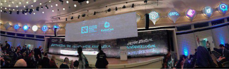 1.500 Teilnehmer drängten sich auf der CloudNativeCon + KubeCon Europe 2017 im Berliner Convention Center durch die Hallen und in die Säle.