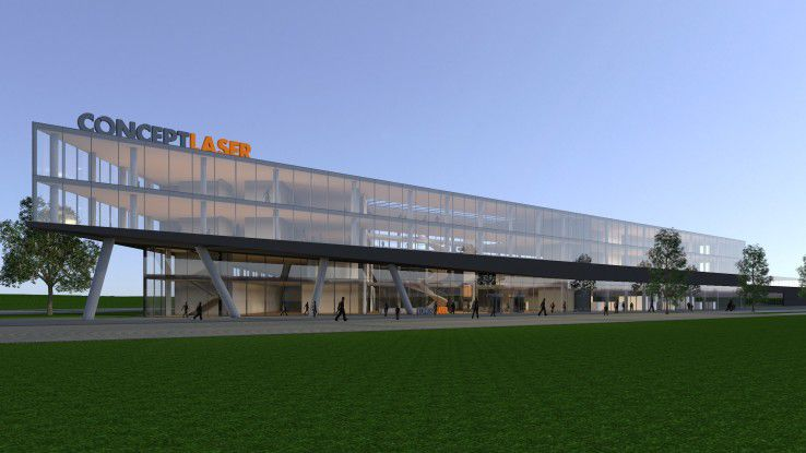 Der neue 3D-Campus von der GE-Tochter Concept Laser (GE) im oberfränkischen Lichtenfels soll Anfang 2019 bezugsfertig sein.