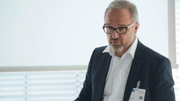 Schenker CIO und CDO Markus Sontheimer steuerte die Eröffnungskeynote bei.