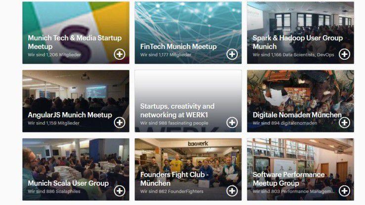 Wer unter www.meetup.com ein Technikthema und einen Ort eingibt, findet vielfältigste Gruppen, denen er sich anschließen kann: von Agile über Deep Learning bis hin zu Cloud Native. Firmen stellen ihre Räume oft und gerne für Treffen zur Verfügung, kommen sie doch so mit IT-Profis ins Gespräch, die sie sonst kaum kennenlernen würden.