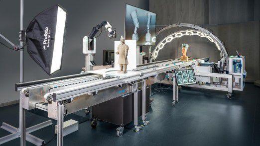 10 Minuten dauert der vollautomatisierte Scan einer bis zu 50 Kilogramm schweren Skulptur.