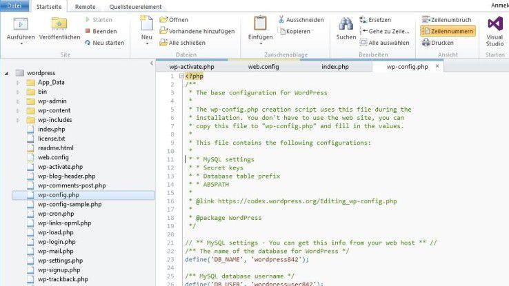 """Die Datei """"wp-config.php"""" ist eine wichtige Konfigurationsdatei, die besonders abgesichert werden muss."""