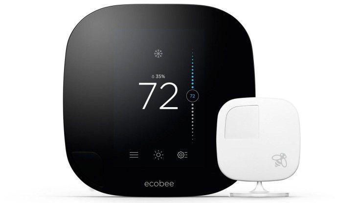Der King der smarten Thermostate heißt Ecobee3. Der Konkurrenz enteilt das Thermostat des kanadischen Herstellers Ecobee in erster Linie dank der zugehörigen Sensoren.
