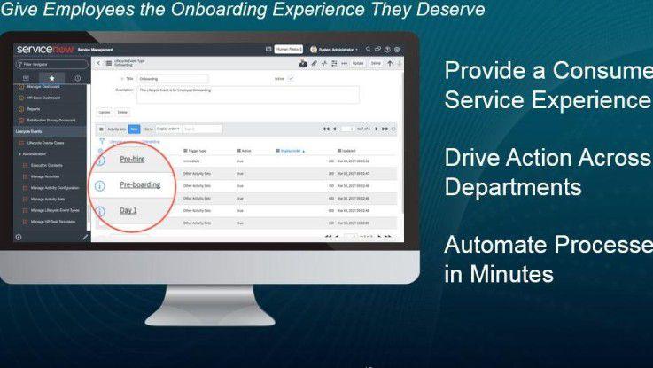 Mit neuen Produkten will ServiceNow auch die Einstellungsprozesse im Personalbereich automatisieren.