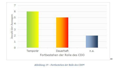 Eine knappe Mehrheit in der überschaubaren Gruppe der DAX-CDOs glaubt nicht daran, dass diese Rolle von Dauer ist. Professor Kawohl ist da anderer Ansicht.