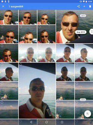 Fotos können Sie auch nach Datum sortieren und filtern lassen.