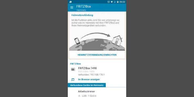 Um per App die sichere Verbindung zur Fritzbox einzurichten, muss sich das Smartphone im Heimnetz befinden.