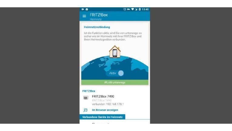 Unterwegs bauen Sie über einen WLAN-Hotspot oder Mobilfunk die sichere Verbindung ins Heimnetz auf.