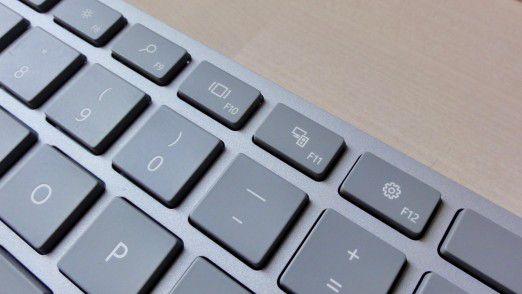Die Verarbeitungsqualität von Microsofts Premium-Bluetooth-Tastatur kann sich sehen lassen.