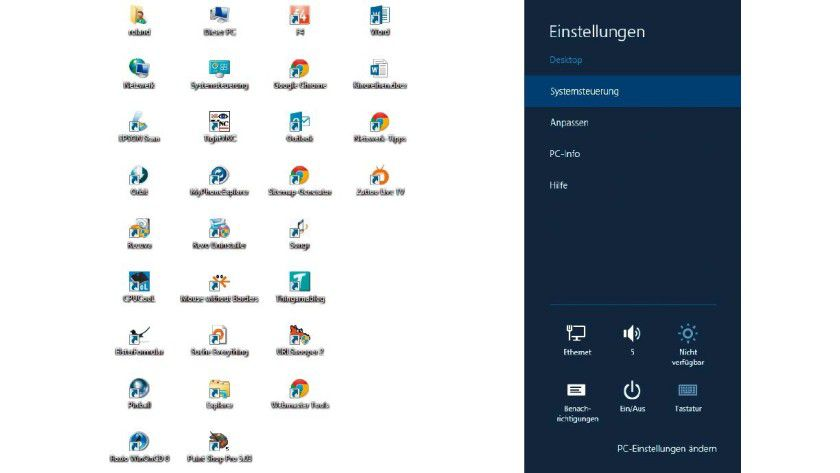 In Windows 8 hielt die Charms-Bar Einzug. Aus Windows 10 hat Microsoft sie bereits wieder herausgenommen.
