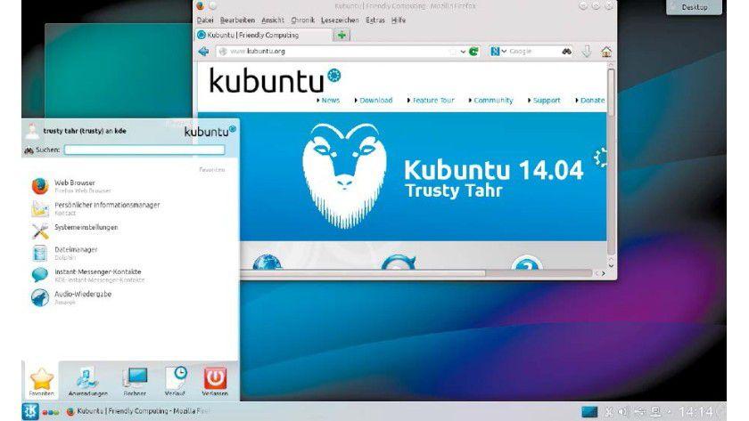 KDE ist der anspruchsvollste Linux-Desktop mit unbegrenztem Anpassungspotenzial. Die Systembasis von Kubuntu ist Ubuntu.