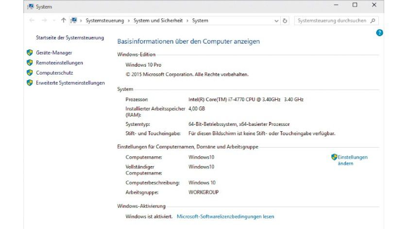 Windows 10 in der Pro- oder Enterprise-Edition jeweils in der 64-Bit-Version und 4 GB Arbeitsspeicher – sind diese Voraussetzungen erfüllt, steht der Aktivierung des Virtualisierungssystems Hyper-V in Windows 10 nichts im Wege.
