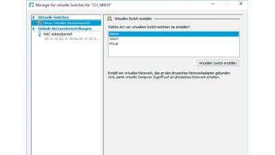 Virtualisierung in Windows 10: Hyper-V: Virtualisierung mit Bordmitteln