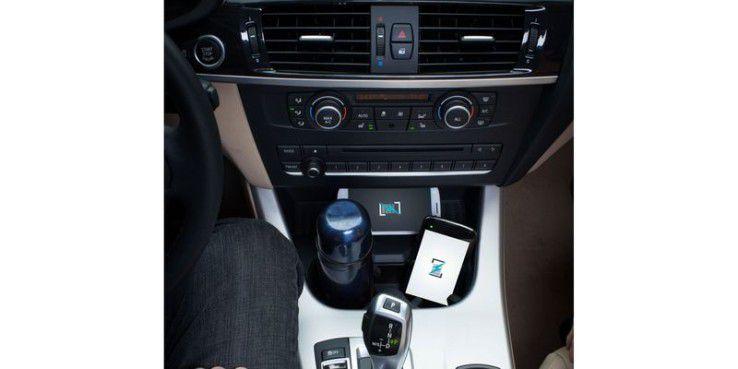 Der Standard Rezence lässt sich auch von Metallen im Umfeld nicht beeindrucken - wie hier im Auto