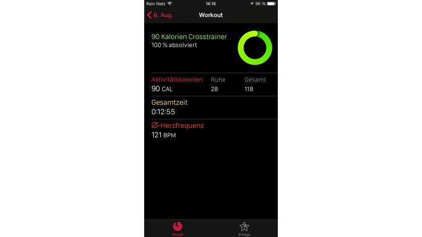 Wer Indoor-Sportarten wie das Crosstraining bevorzugt, findet in der Workout App auf der Apple Watch eine eigene Crosstrainer-Funktion.