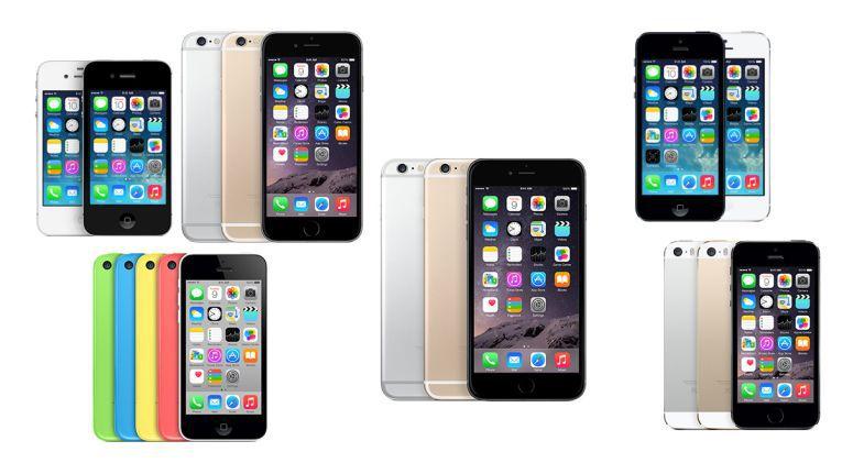 iPhone 4S bis iPhone 6 Plus