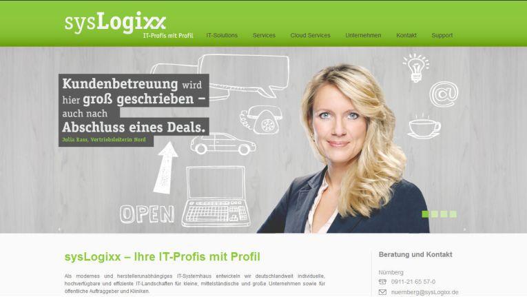IT-Profis mit Profil - so wirbt das Dell-Systemhaus sysLogixx für sich auf der eigenen Website.
