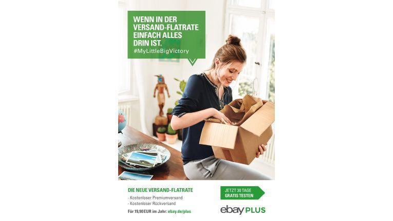 Artikel von Teilnehmern an eBay Plus werden auch in die Werbung für das Programm miteinbezogen