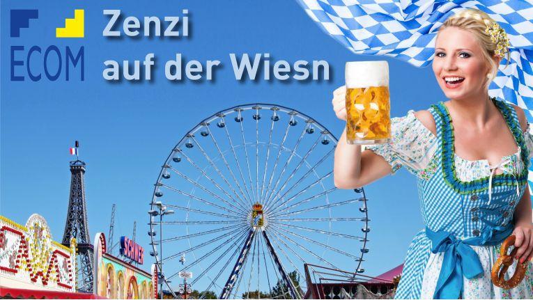 Ecoms Zenzi verlost unter allen Teilnehmern, die ihr bei ihren Oktoberfest-Fragen helfen, täglich je drei 5-Liter-Fässer Bier und am Ende jeder Woche einen Schmankerl-Korb.