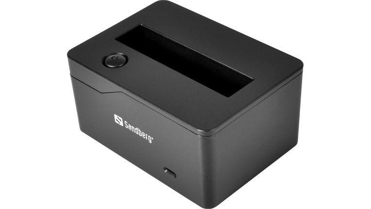 """Obwohl recht unscheinbar, bietet die neue kleine USB 3.0 SATA Docking 2.5"""" von Sandberg ordentlich Leistung zu einem attraktiven Preis."""