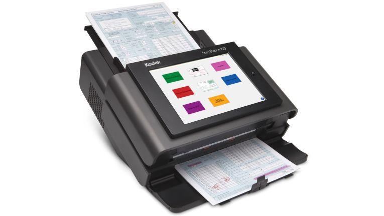 Kodak und Ingram Micro wollen alles über Scan-Software, Capturing und Scannen im Netzwerk beim Testen vor Ort zeigen. Eine der vorgestellten Neuigkeiten ist die Kodak Scan Station 710.