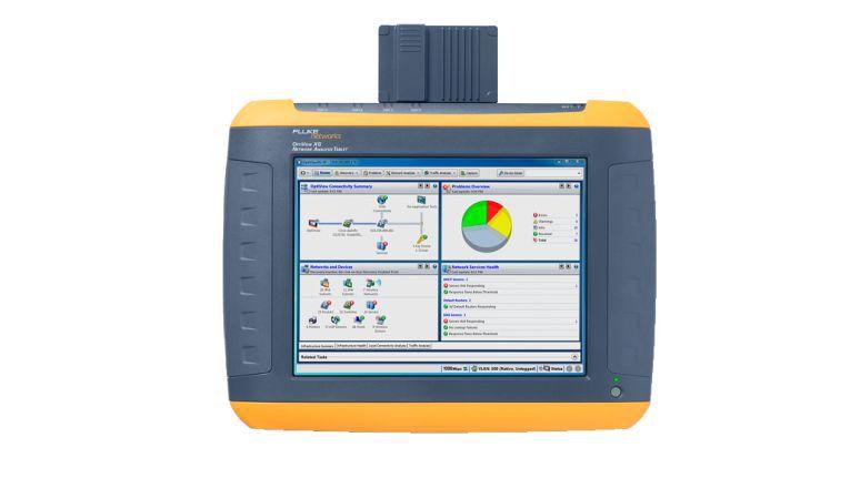 Mit dem Tablet OptiView XG lassen sich Netze nicht nur testen, sondern auch planen.