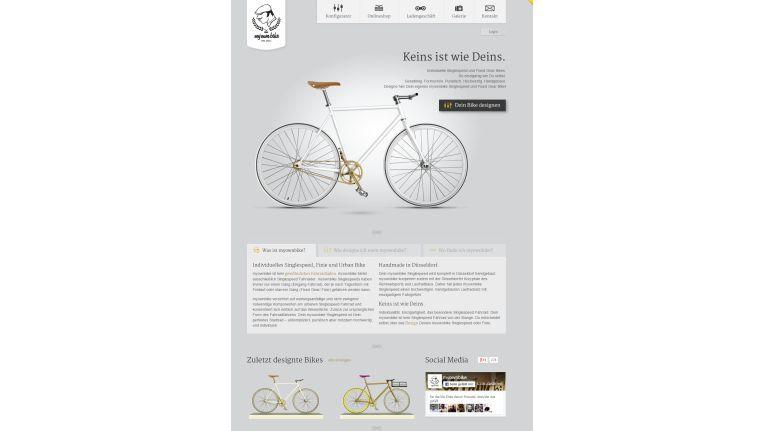 """Mehr als ein positives Nutzererlebnis: Bei """"my own bike"""" wird der User zum Designer"""