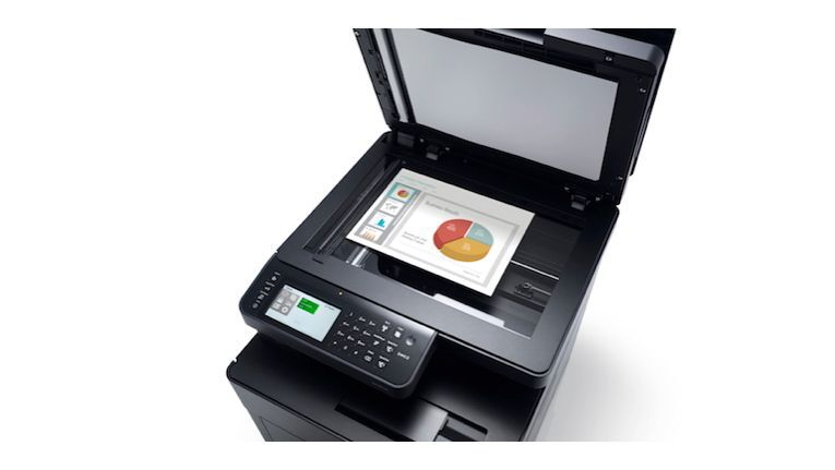 Dell H825cdw: inklusive Touchscreen und Low-Melt-Technik.