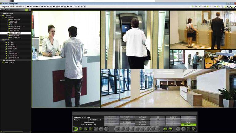 Dallmeier Smavia Viewing Client: Durch Fiducia-Zertifizerung besonders für Banken geeignet.