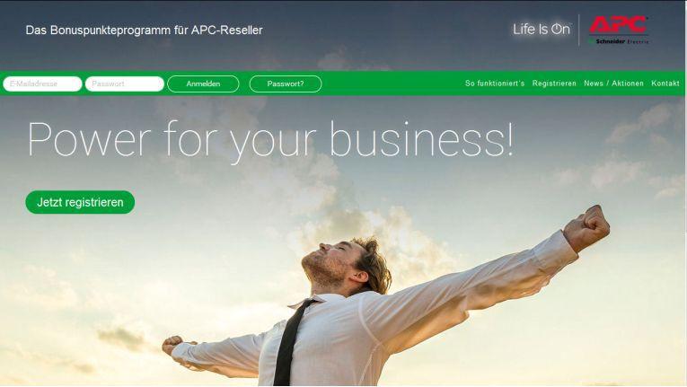 Den unter http://power.apc-home.de/ angemeldeten APC-Partnern winken attraktive Prämien.