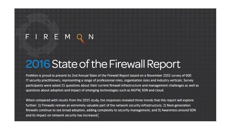 FireMon Firewall Report 2016: Klassische Firewalls haben trotz neuer Technologien ihre Daseinsberechtigung.