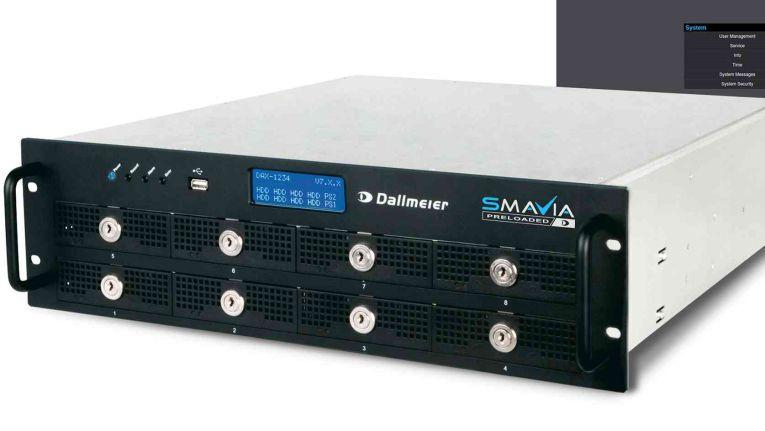 Dallmeier IPS 10000: Hier stehen viele Funktionen zur Verfügung.